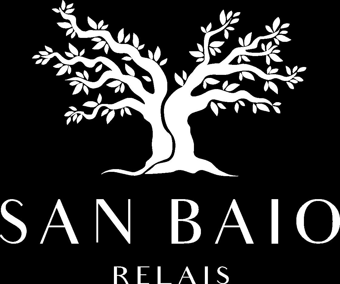 Logo colore bianco Ssan Baio Relais